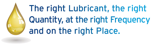 The right Lubricant, the right Quantity, at the right Frequency and on the right Place